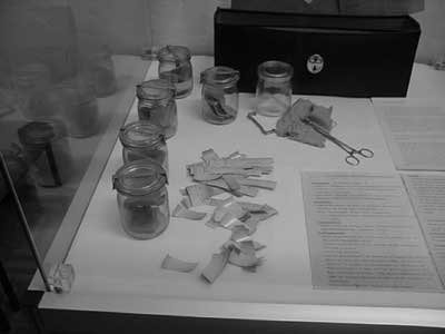 Scent jars of the Stasi