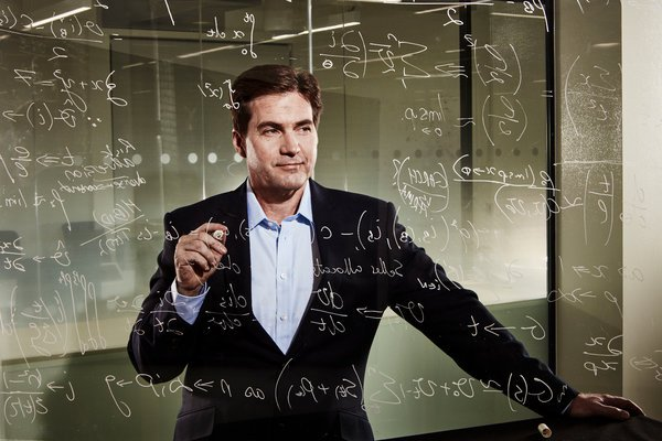 Craig Wright with the Satoshi look of satisfaction looking at a glass full of gibberish.