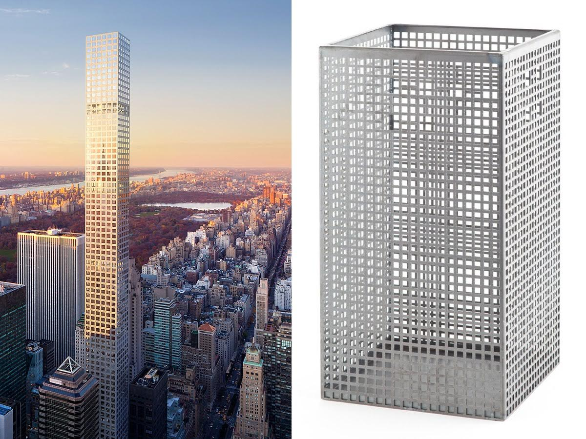 Skyscraper that looks like a wastebasket